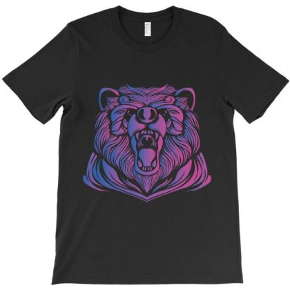 Bear Colored T-shirt Designed By Wizarts