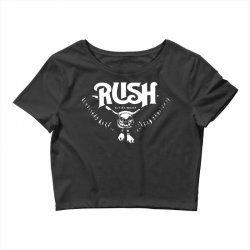 rush t shirt vintage band shirts Crop Top | Artistshot