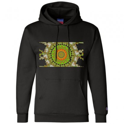 Circular Fractal Champion Hoodie Designed By Zykkwolf