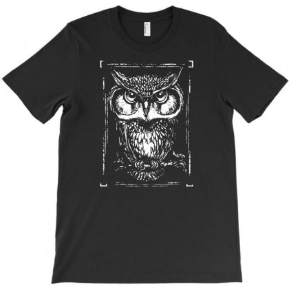 Owl White T-shirt Designed By Teeshop