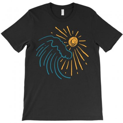 Sun And Wave T-shirt Designed By Teeshop