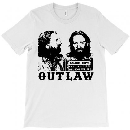 Willie Nelson T Shirt Willie Nelson Mugshot Shirts Vintage Outlaw Coun T-shirt Designed By Teeshop