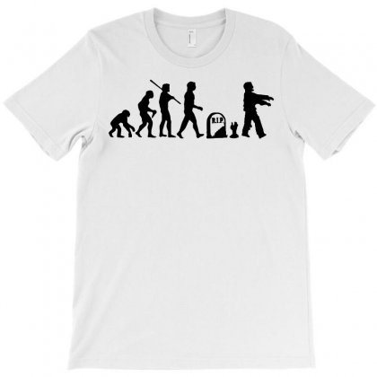 Zombie T Shirt Zombie Evolution T Shirt Funny Zombie T Shirts T-shirt Designed By Teeshop