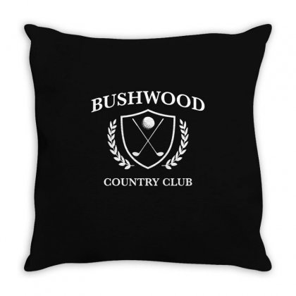 Bushwood Country Club   Funny Golf Golfing Throw Pillow Designed By Teeshop