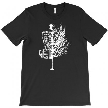 Disc Golf Basket Tree Shirts Funny T-shirt Designed By Teeshop