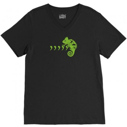 Comma Chameleon V-neck Tee Designed By Rendi