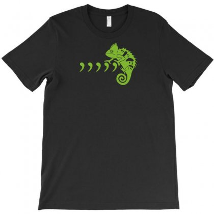 Comma Chameleon T-shirt Designed By Rendi