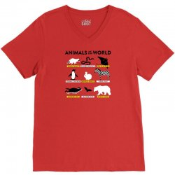 animals of the world V-Neck Tee | Artistshot
