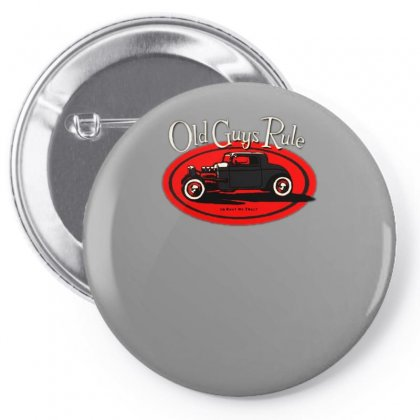 Old Guys Rule Classic Rat Rod Smoke Pin-back Button Designed By Lyly
