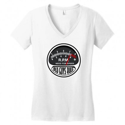 Old Guys Rule Need For Speed Charcoal Classic Women's V-neck T-shirt Designed By Lyly