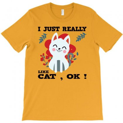 Cat And Other Animals – I Really Love Animal, Ok! T-shirt Designed By Alparslan