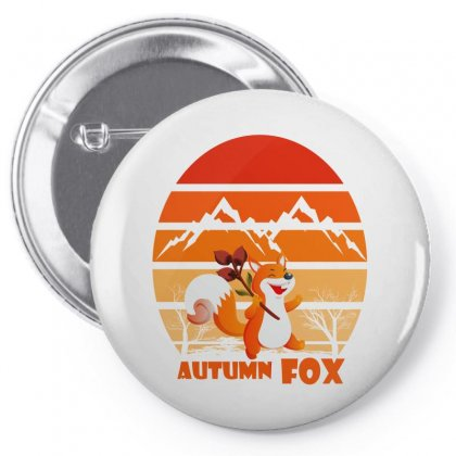 Autumn Fox Pin-back Button Designed By Cuser2397