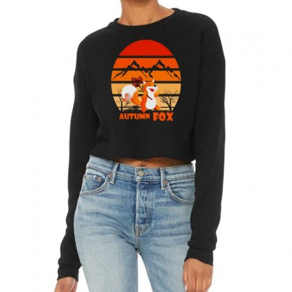 Autumn Fox Cropped Sweater Designed By Cuser2397