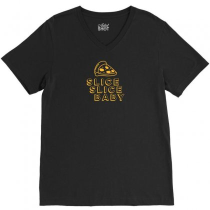 Slice Slice Baby V-neck Tee Designed By Rendi