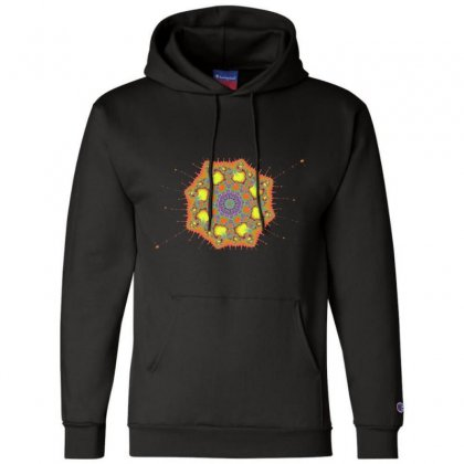Fractal Spiral Champion Hoodie Designed By Zykkwolf