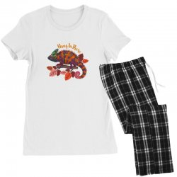 hang in there magical chameleon Women's Pajamas Set | Artistshot