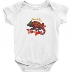 hang in there magical chameleon Baby Bodysuit | Artistshot