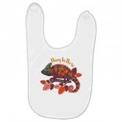 hang in there magical chameleon Baby Bibs | Artistshot