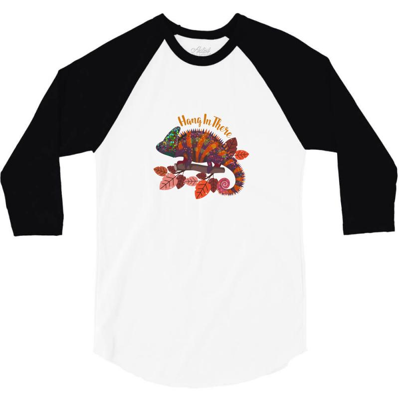Hang In There Magical Chameleon 3/4 Sleeve Shirt   Artistshot