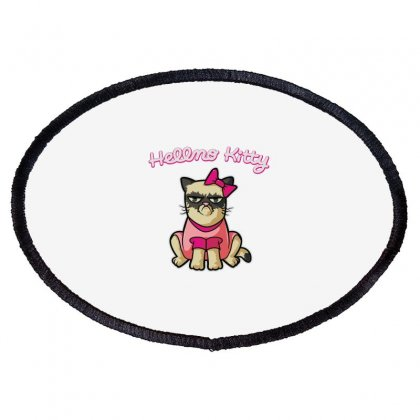 Hellno Kitty Oval Patch Designed By Toldo
