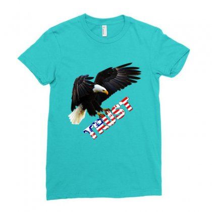 American Pride Ladies Fitted T-shirt Designed By Lotus Fashion Realm