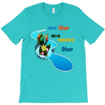 Floating River T-shirt Designed By Lotus Fashion Realm