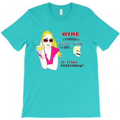 Wine Is To Women T-shirt Designed By Lotus Fashion Realm
