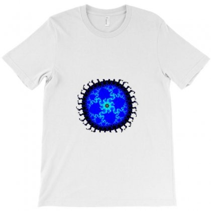 Circular Fractal T-shirt Designed By Zykkwolf
