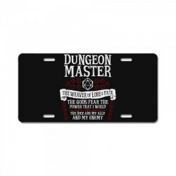 dungeon master, the weaver of lore & fate   dungeons & dragons License Plate   Artistshot