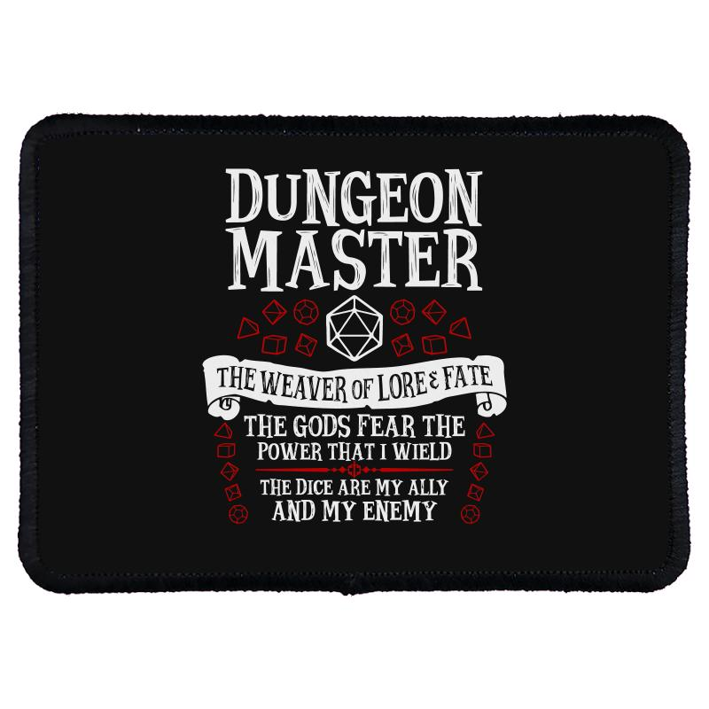 Dungeon Master, The Weaver Of Lore & Fate   Dungeons & Dragons Rectangle Patch   Artistshot