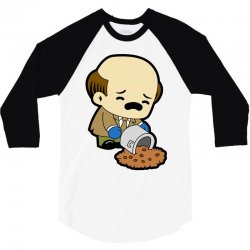 the office   kevin malone   chili 3/4 Sleeve Shirt | Artistshot