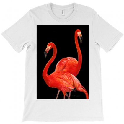 Two In Red T-shirt Designed By Animalpaintings