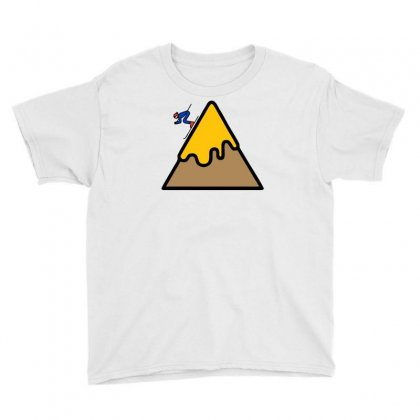 Mountain Ski Youth Tee Designed By Warief77