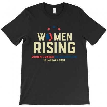 Women's Rising   Women's March On Washington 2 T-shirt Designed By Hot Trends