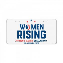 women's rising   women's march on alabama 2 License Plate | Artistshot