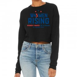 Women's Rising   Women's March On Alabama 2 Cropped Sweater Designed By Hot Trends