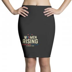 women's rising   women's march on alabama Pencil Skirts | Artistshot