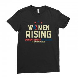 women's rising   women's march on alaska Ladies Fitted T-Shirt | Artistshot