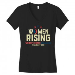 women's rising   women's march on alaska Women's V-Neck T-Shirt | Artistshot