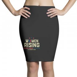 women's rising   women's march on alaska Pencil Skirts | Artistshot