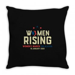 women's rising   women's march on alaska Throw Pillow | Artistshot