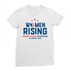 women's rising   women's march on arizona 2 Ladies Fitted T-Shirt | Artistshot
