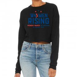 Women's Rising   Women's March On Arizona 2 Cropped Sweater Designed By Hot Trends