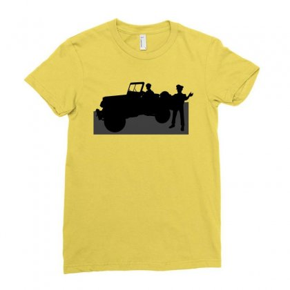 Jeeps And The Army Ladies Fitted T-shirt Designed By Lebaoan