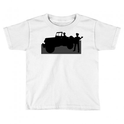Jeeps And The Army Toddler T-shirt Designed By Lebaoan