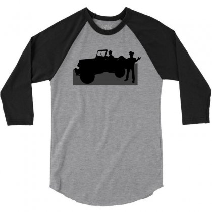Jeeps And The Army 3/4 Sleeve Shirt Designed By Lebaoan