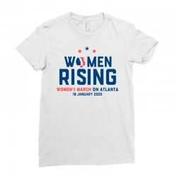 women's rising   women's march on atlanta 2 Ladies Fitted T-Shirt | Artistshot