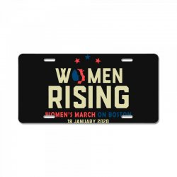 women's rising   women's march on boston License Plate | Artistshot