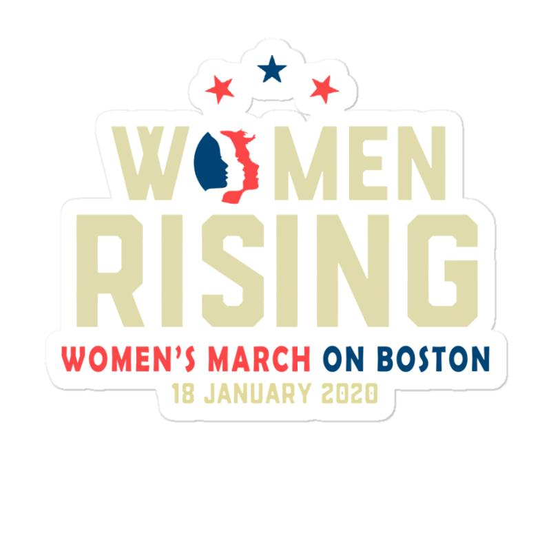Women's Rising   Women's March On Boston Sticker | Artistshot