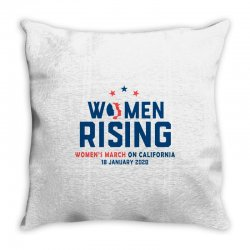 women's rising   women's march on california Throw Pillow | Artistshot